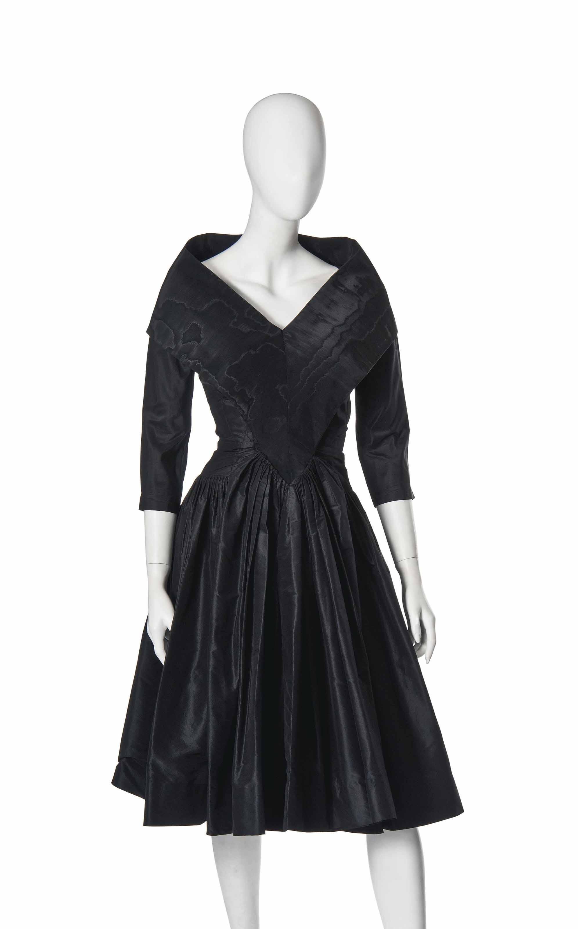 AN EMILIO HABANA BLACK SILK COCKTAIL DRESS | 1940-50 | fashion ...