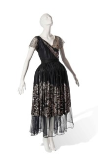 A JEANNE LANVIN ROBE DE STYLE WITH SEQUINNED SKIRTS