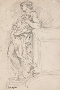 A draped allegorical figure; and Hercules