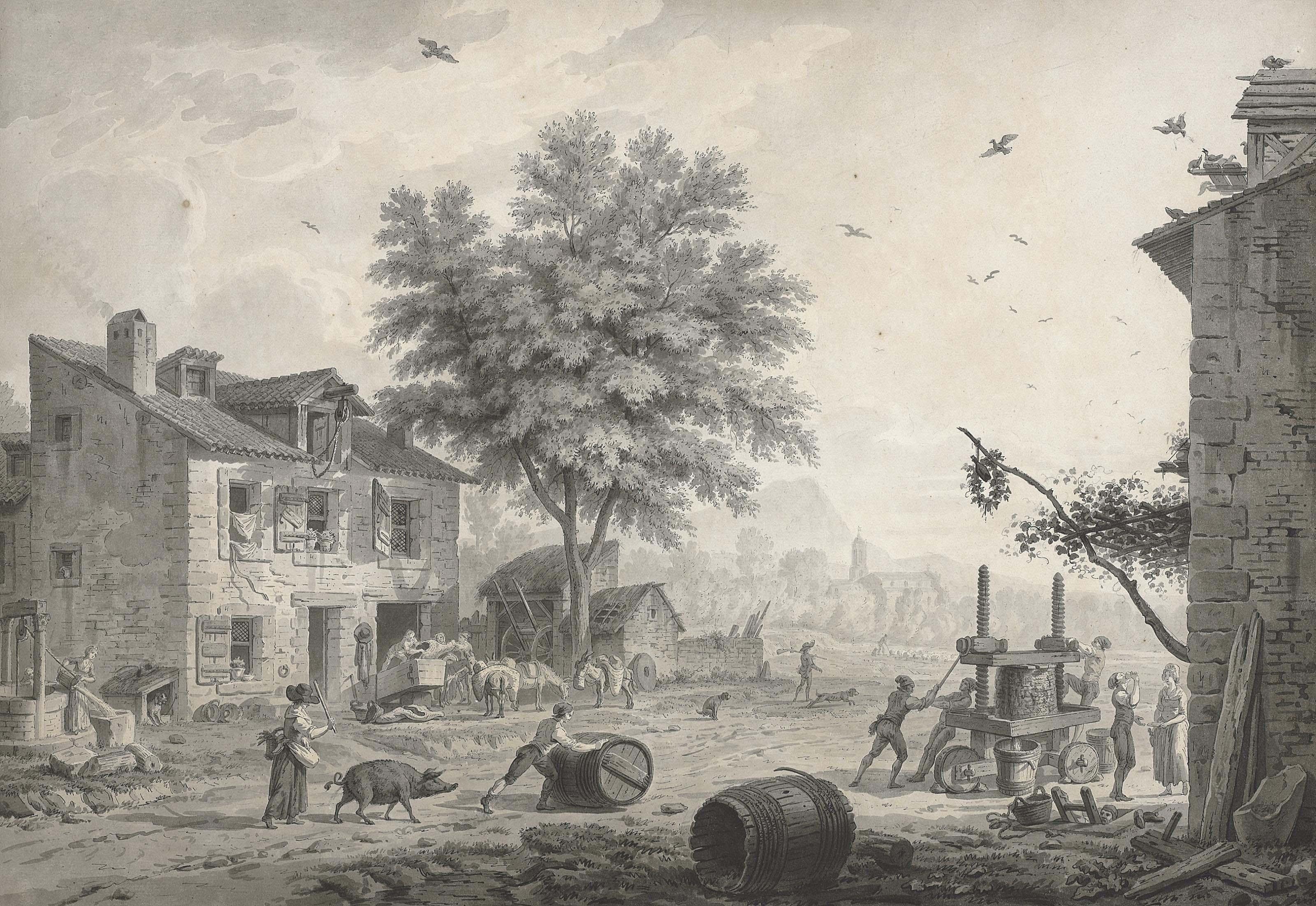 A village scene: the Vendage