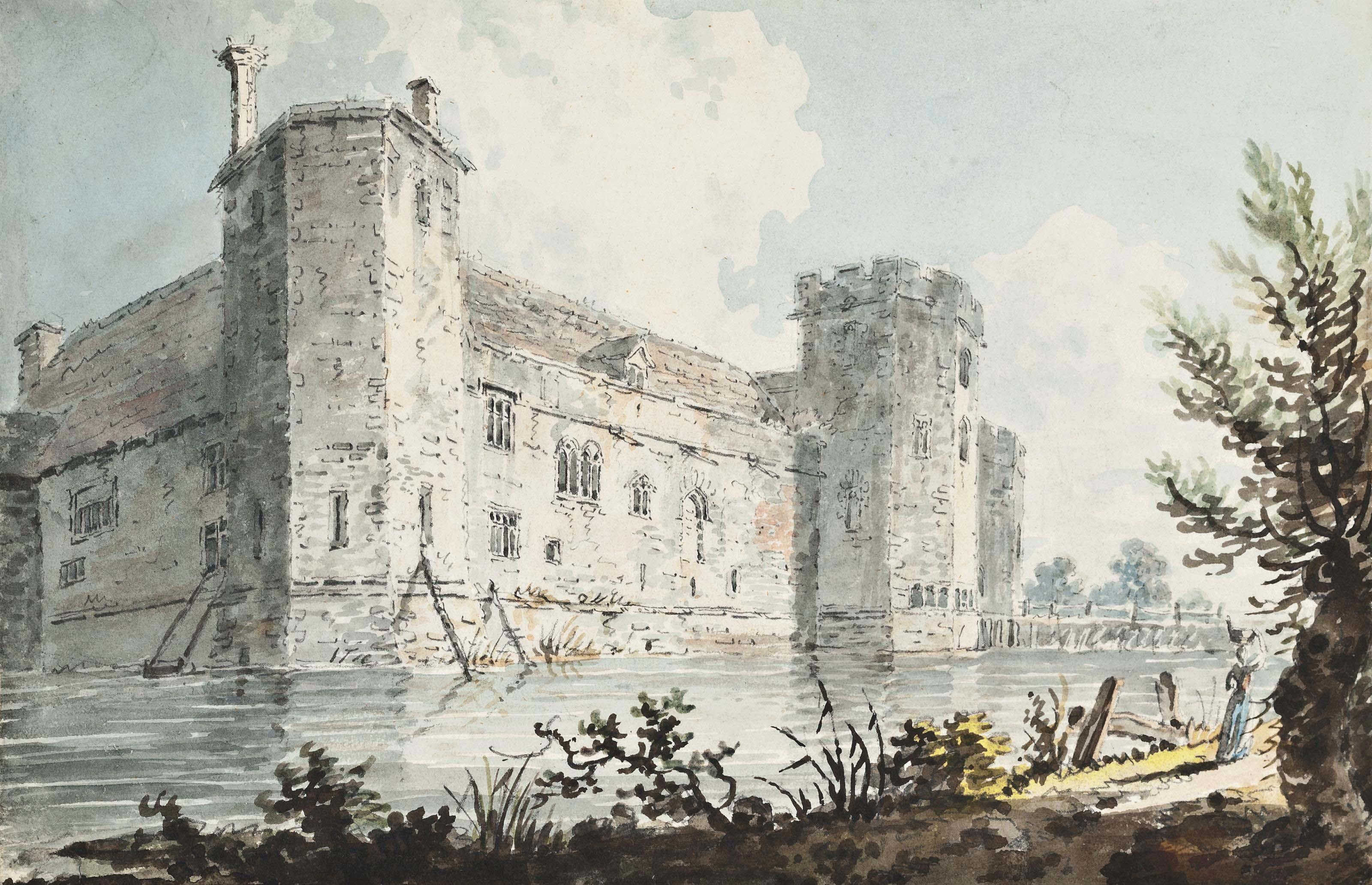 View of Wingfield Castle, Wingfield, Suffolk