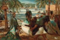 Pêcheurs à Rashid (Rosette)