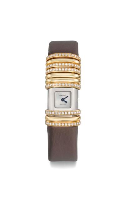 Cartier. A lady's fine 18K pin