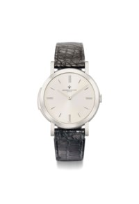 Vacheron Constantin. A very rare, fine and thin 18K white gold minute repeating wristwatch