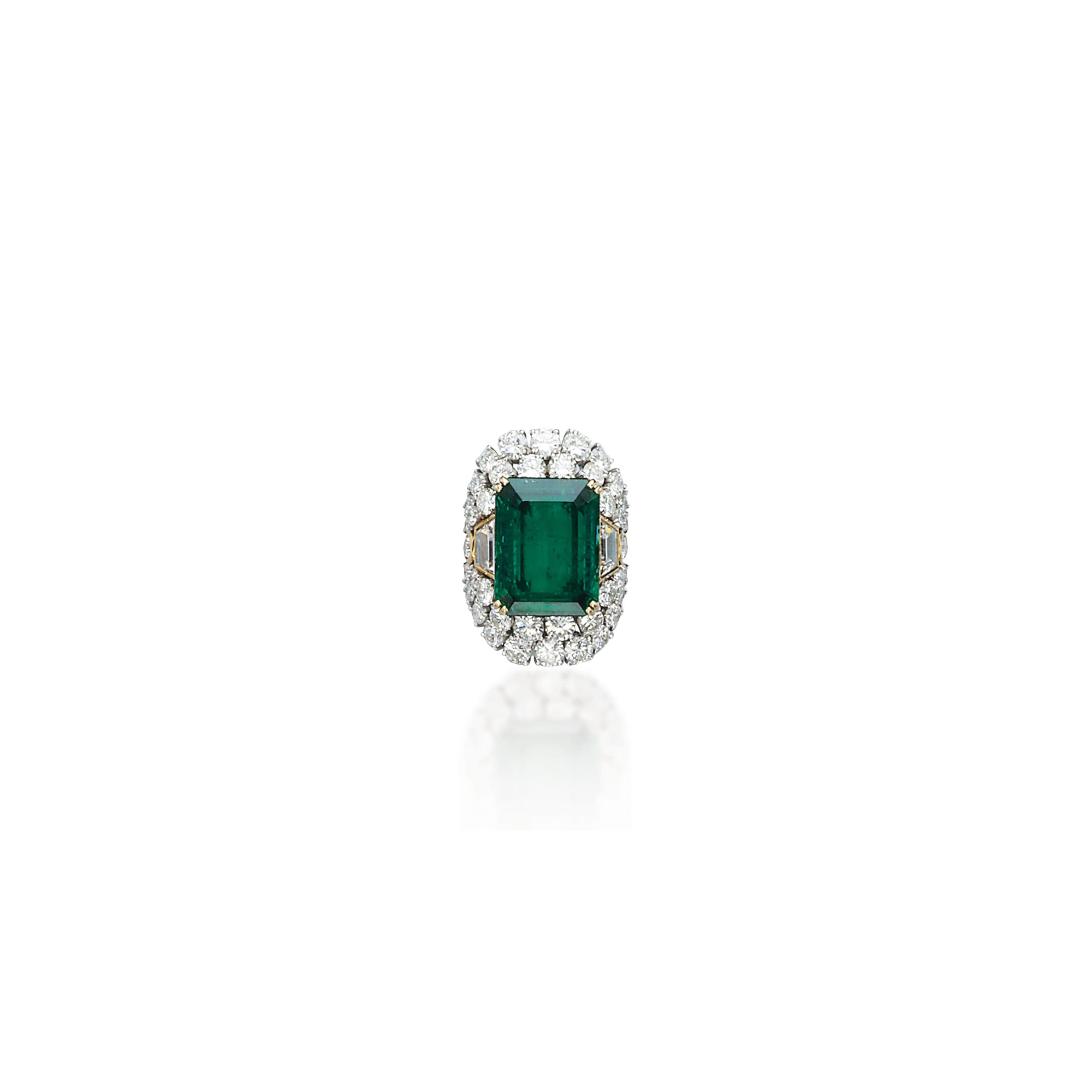 A FINE EMERALD AND DIAMOND RING, BY REPOSSI