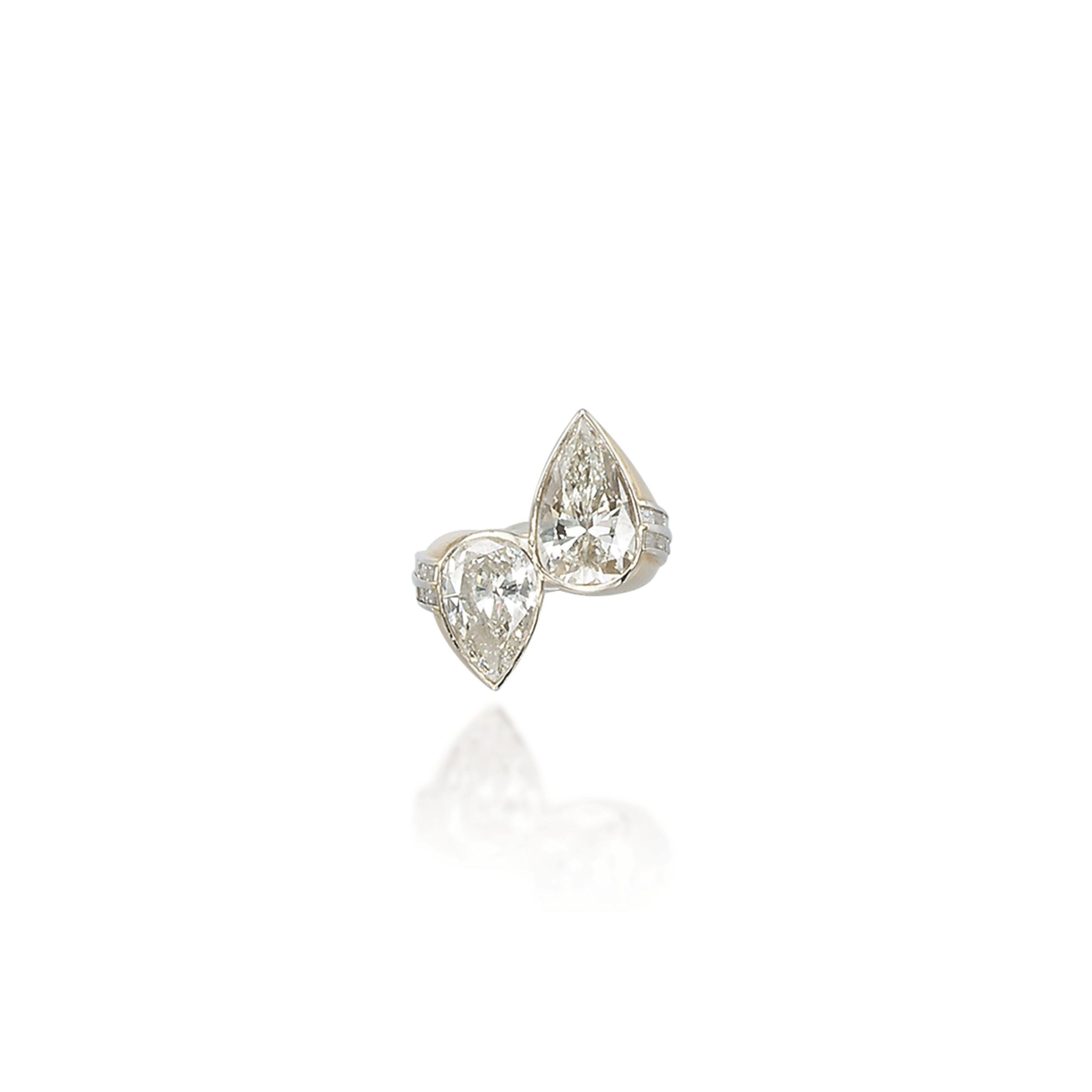 A 'TOI ET MOI' DIAMOND RING, BY REPOSSI