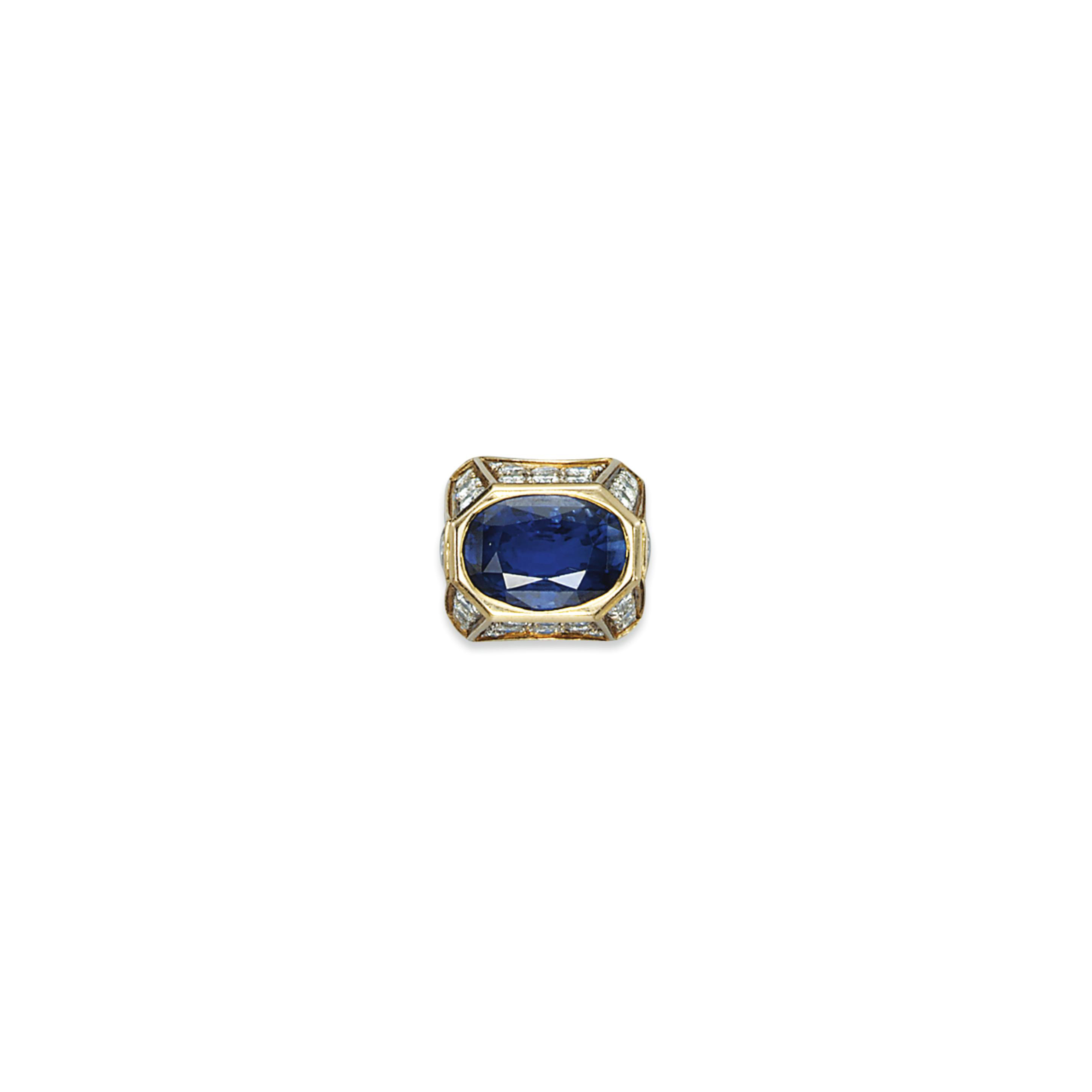 A SAPPHIRE AND DIAMOND RING, BY REPOSSI