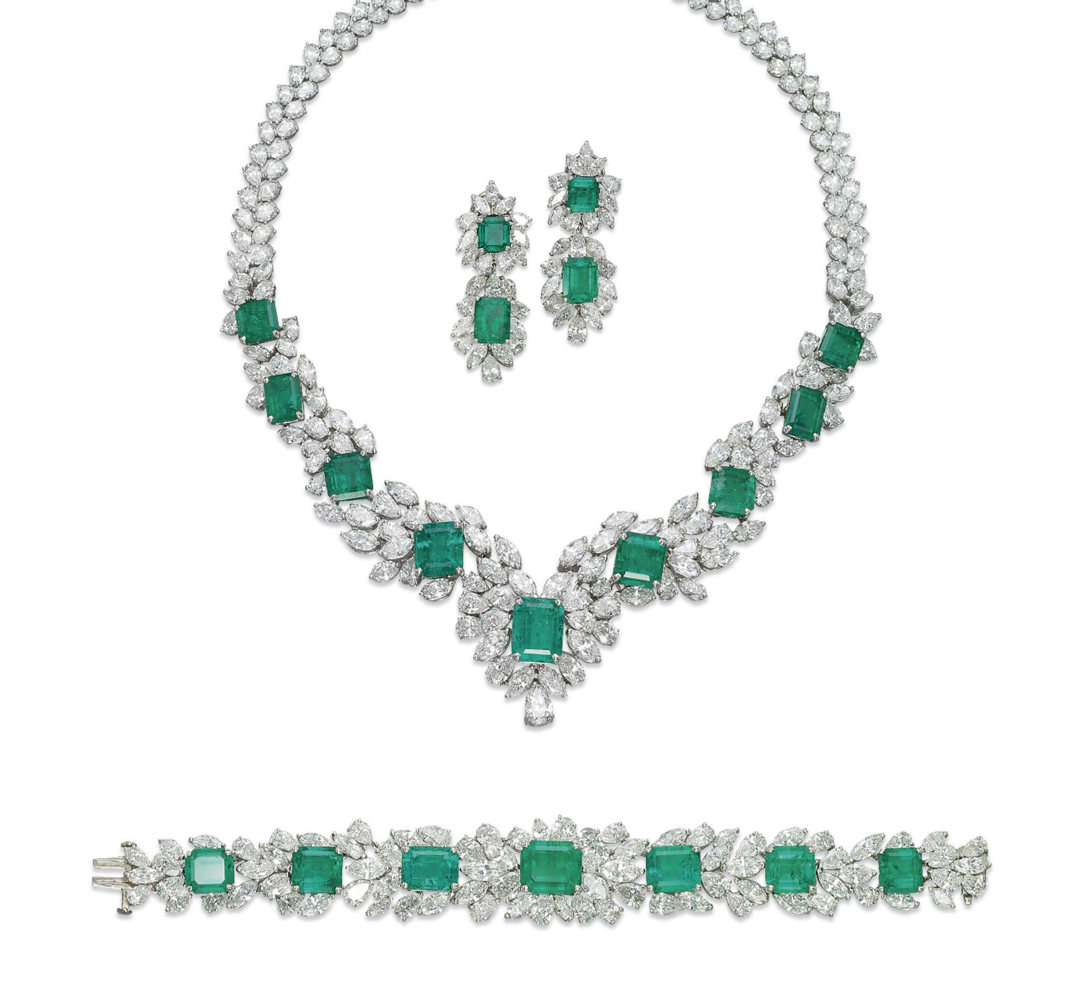 A Set Of Emerald And Diamond Jewellery Christie S
