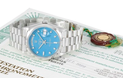 Rolex. A very fine platinum an