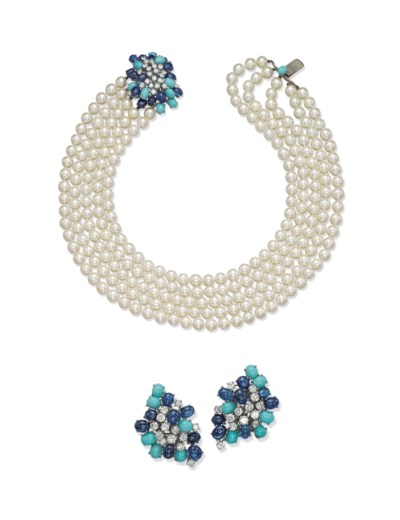 A GROUP OF CULTURED PEARL, TUR