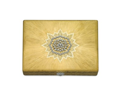 A GOLD AND DIAMOND VANITY CASE