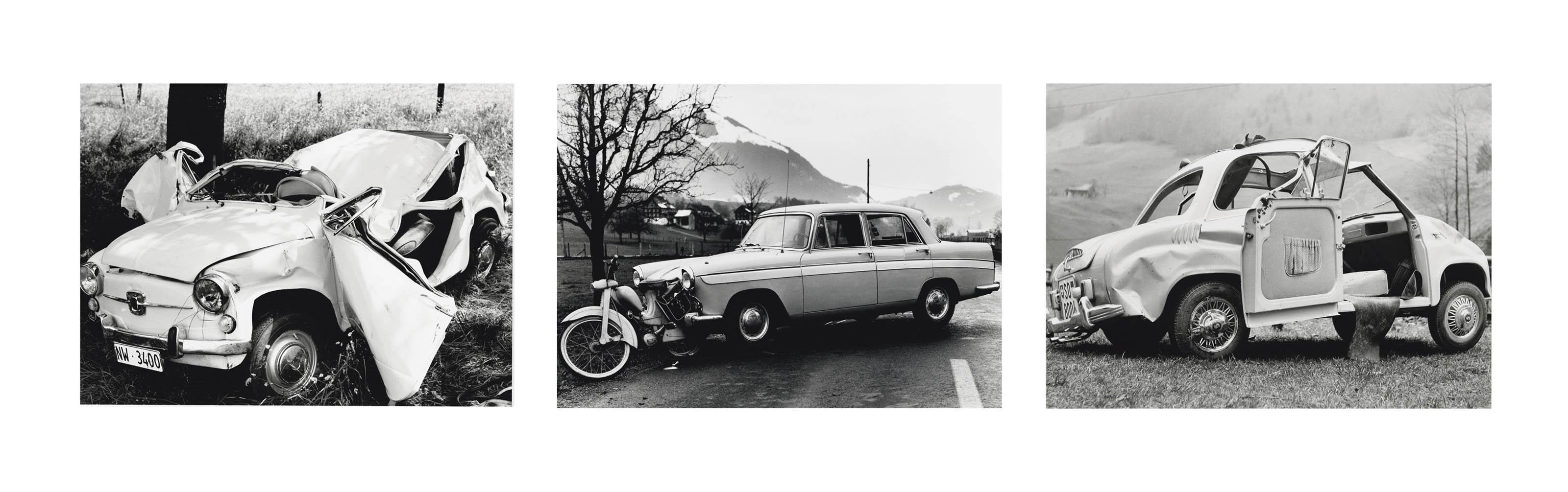 Sammelnummer von drei Fotografien: Stansstad, 1967  Stans, 1959  Wolfenschiessen, 1957 (Aus der Serie Karambolage)