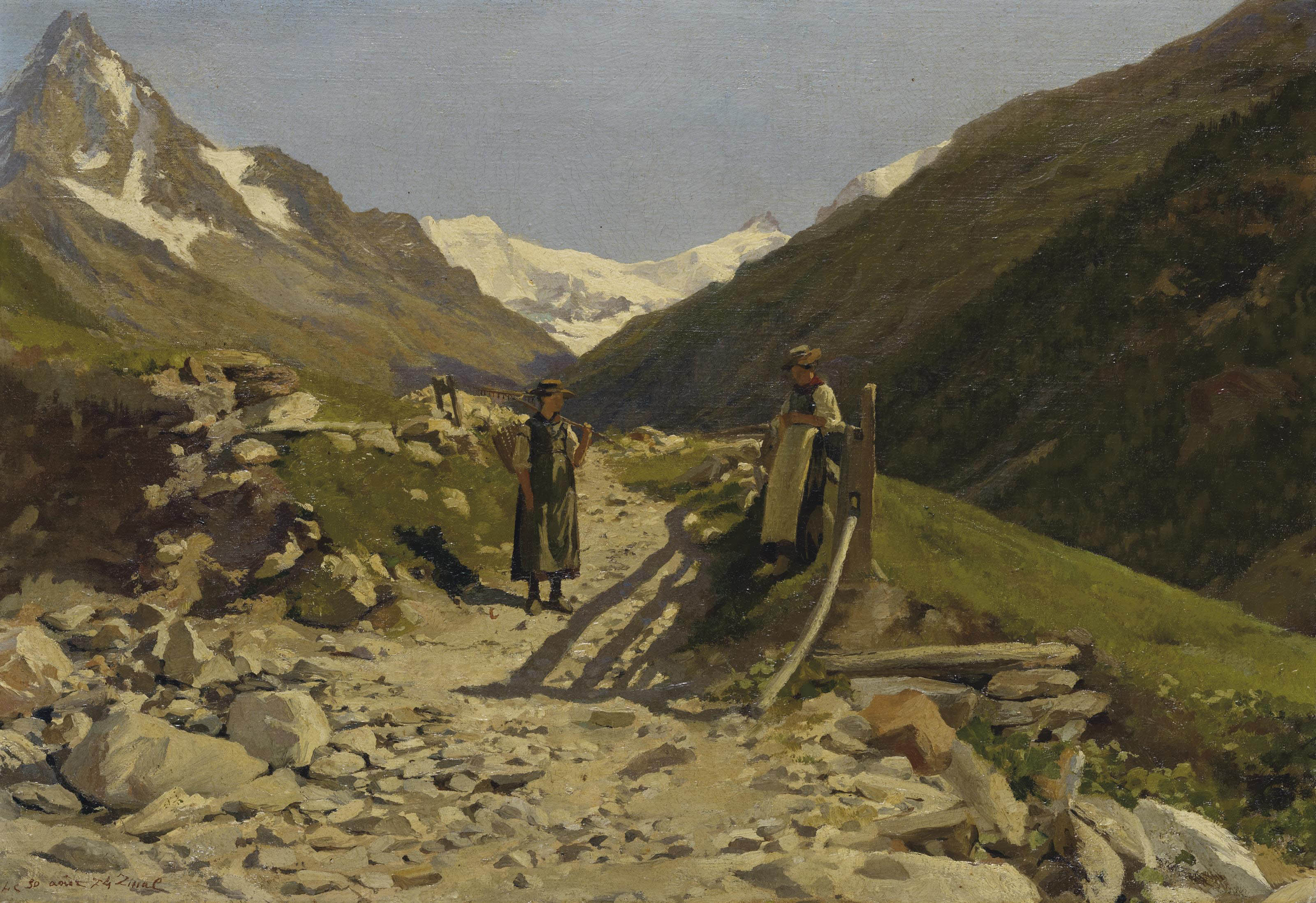 Zinal, 1874