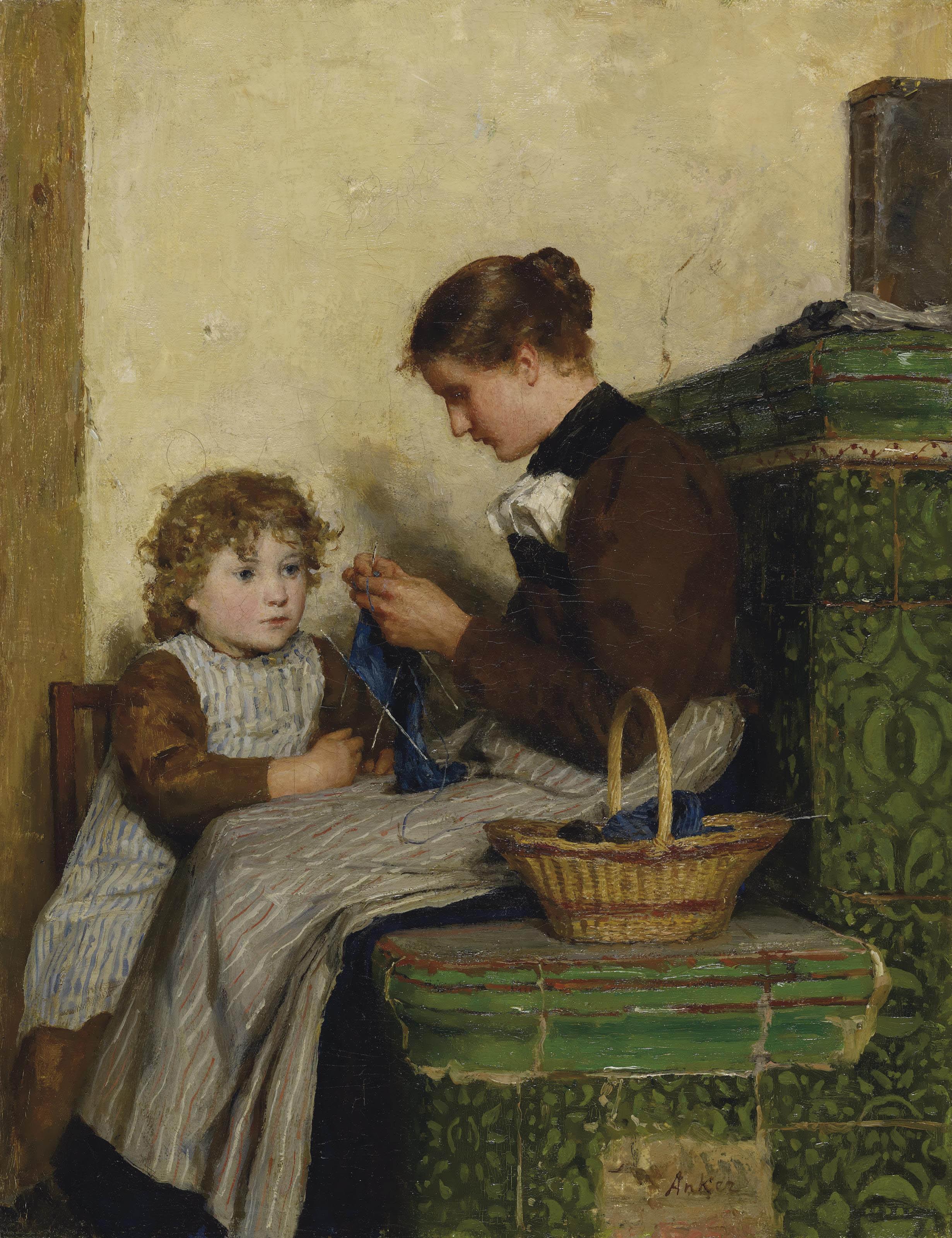 Bertha Gugger mit Tochter, 1898