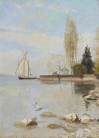Barque au large des quais de Montreux, 1888