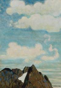 Montagne aux nuages blancs, um 1916