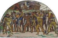 Studie zum dritten Karton des Wandbilds 'Rückzug von Marignano', um 1897