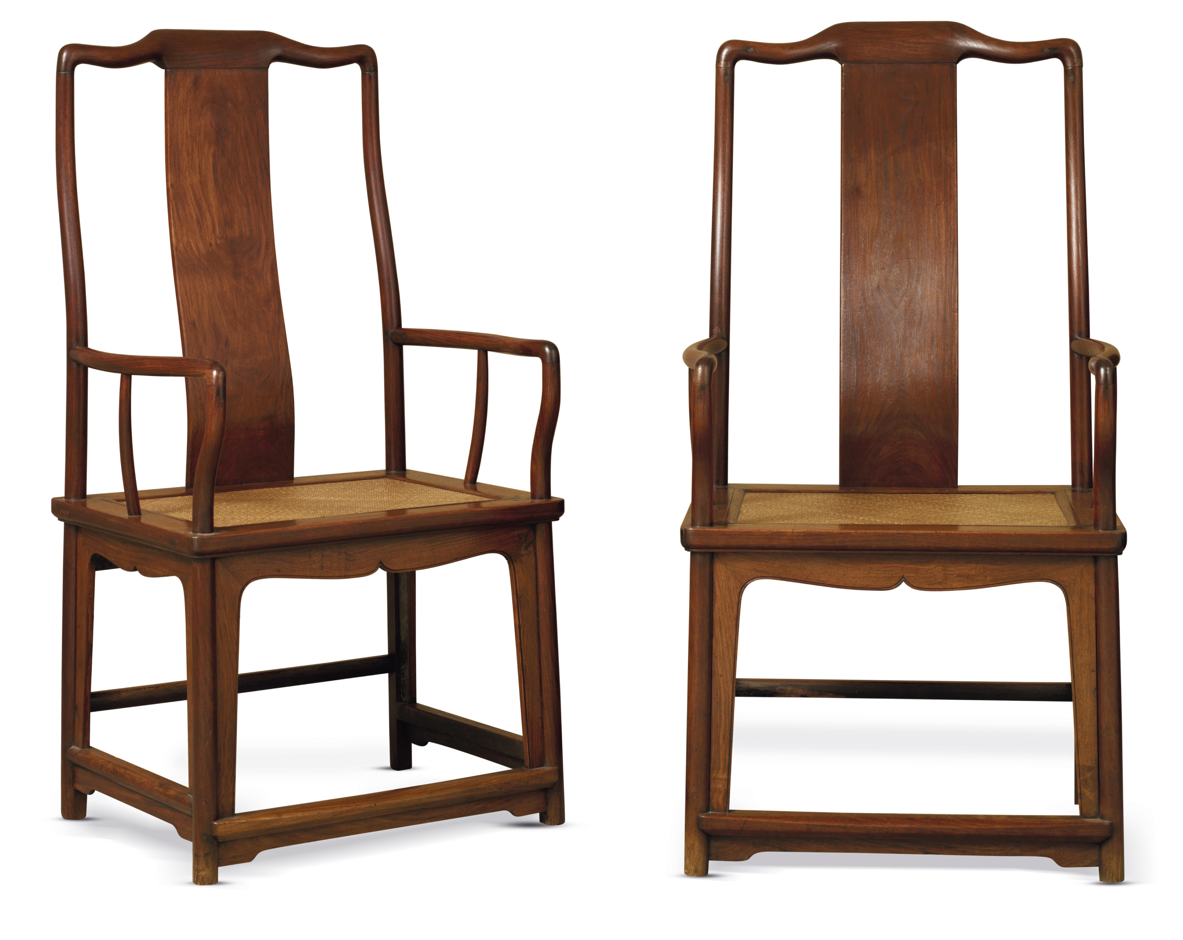 A PAIR OF HUANGHUALI 'SOUTHERN