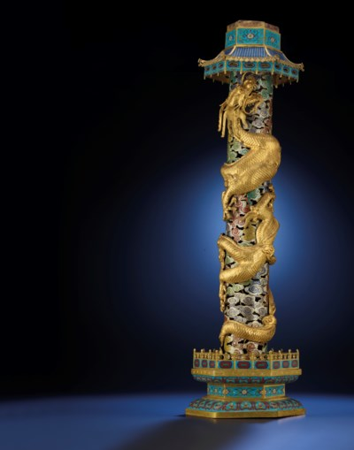 A LARGE IMPERIAL GILT BRONZE A