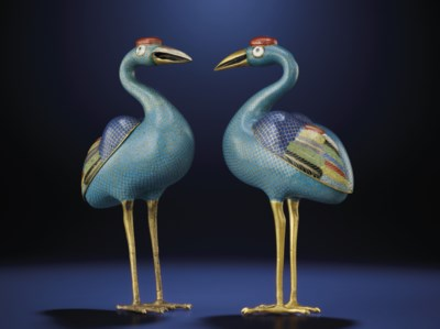 A PAIR OF SMALL CLOISONNE ENAM