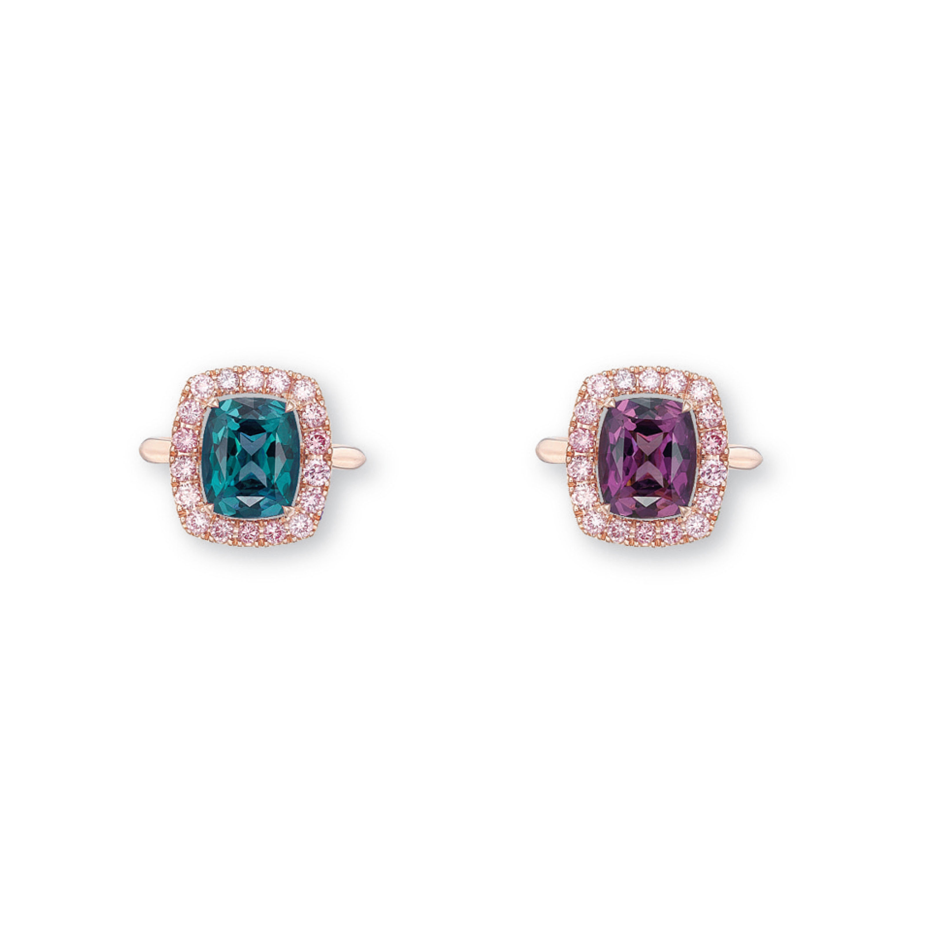 AN ALEXANDRITE AND COLOURED DIAMOND RING, BY SUWA