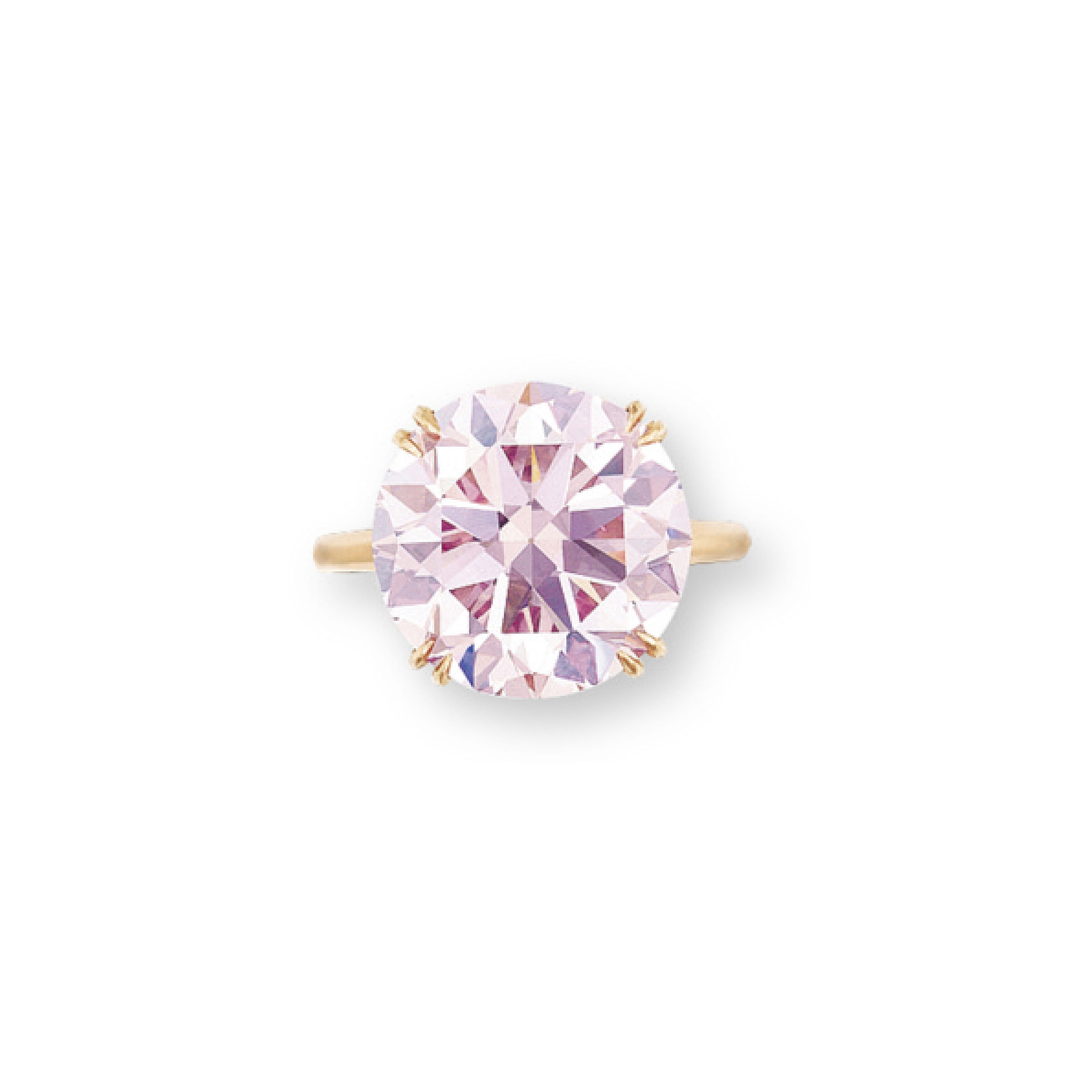 A COLOURED DIAMOND RING, BY HARRY WINSTON