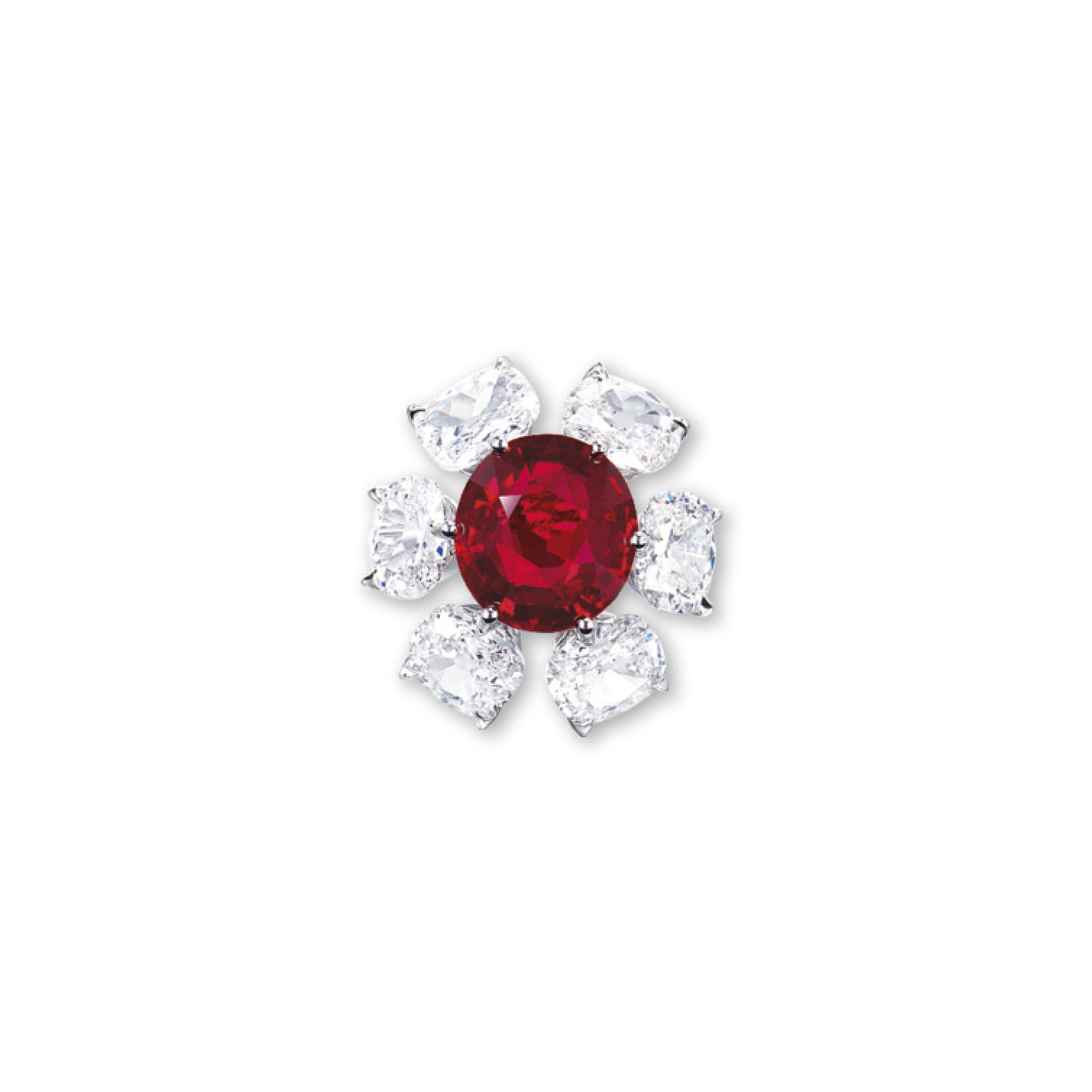 A SUPERB RUBY AND DIAMOND RING, BY ETCETERA