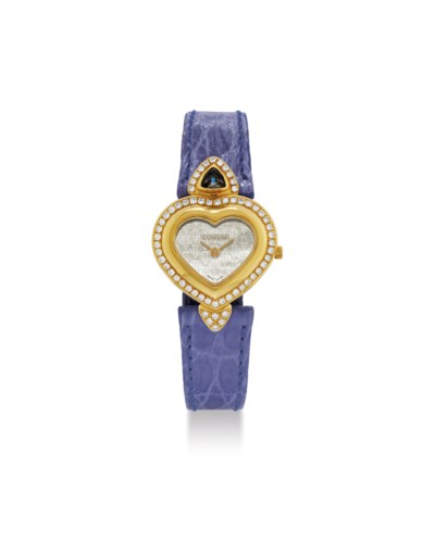 CORUM. A LADY'S 18K GOLD AND D