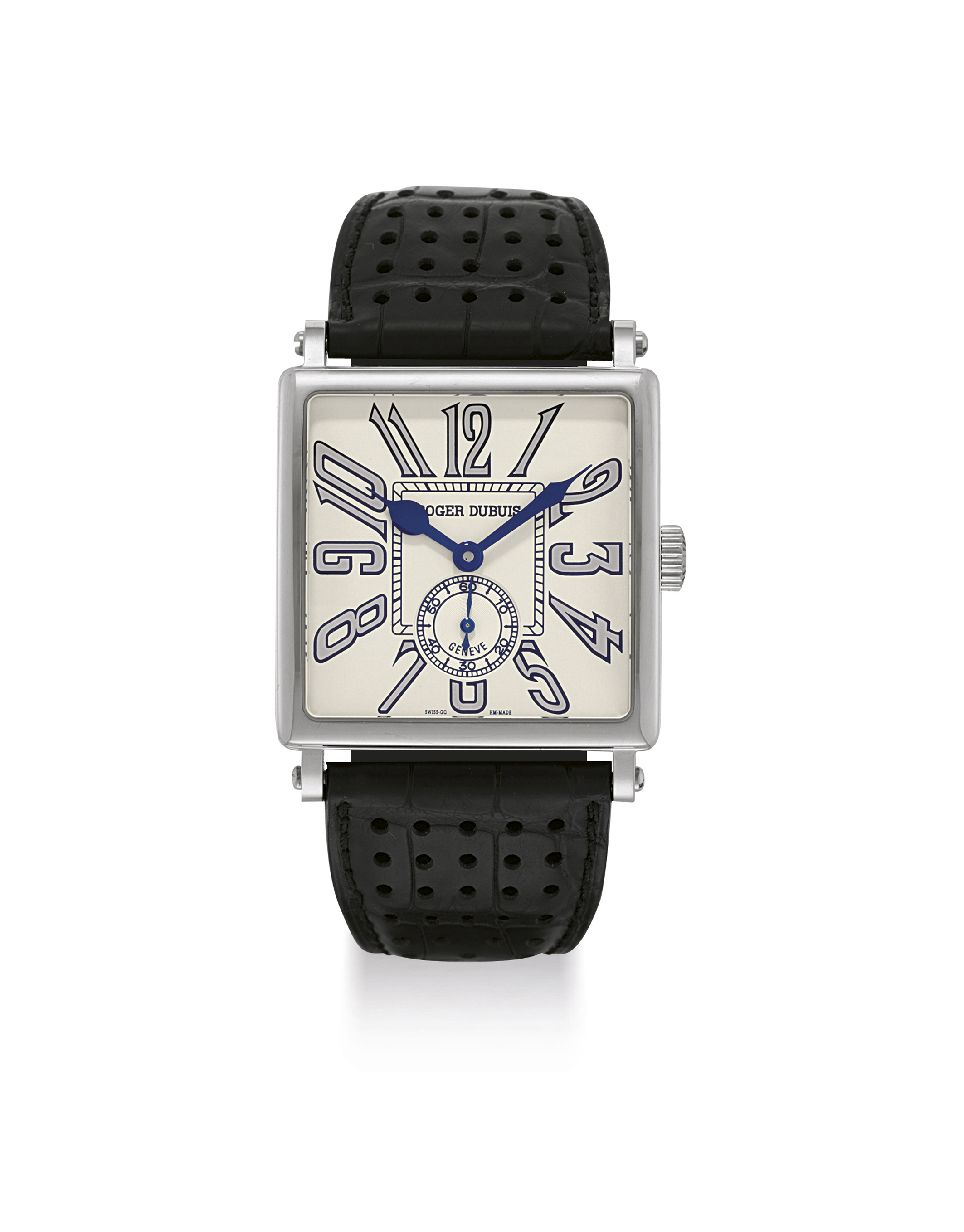 ROGER DUBUIS. AN OVERSIZED 18K WHITE GOLD LIMITED EDITION AUTOMATIC WRISTWATCH