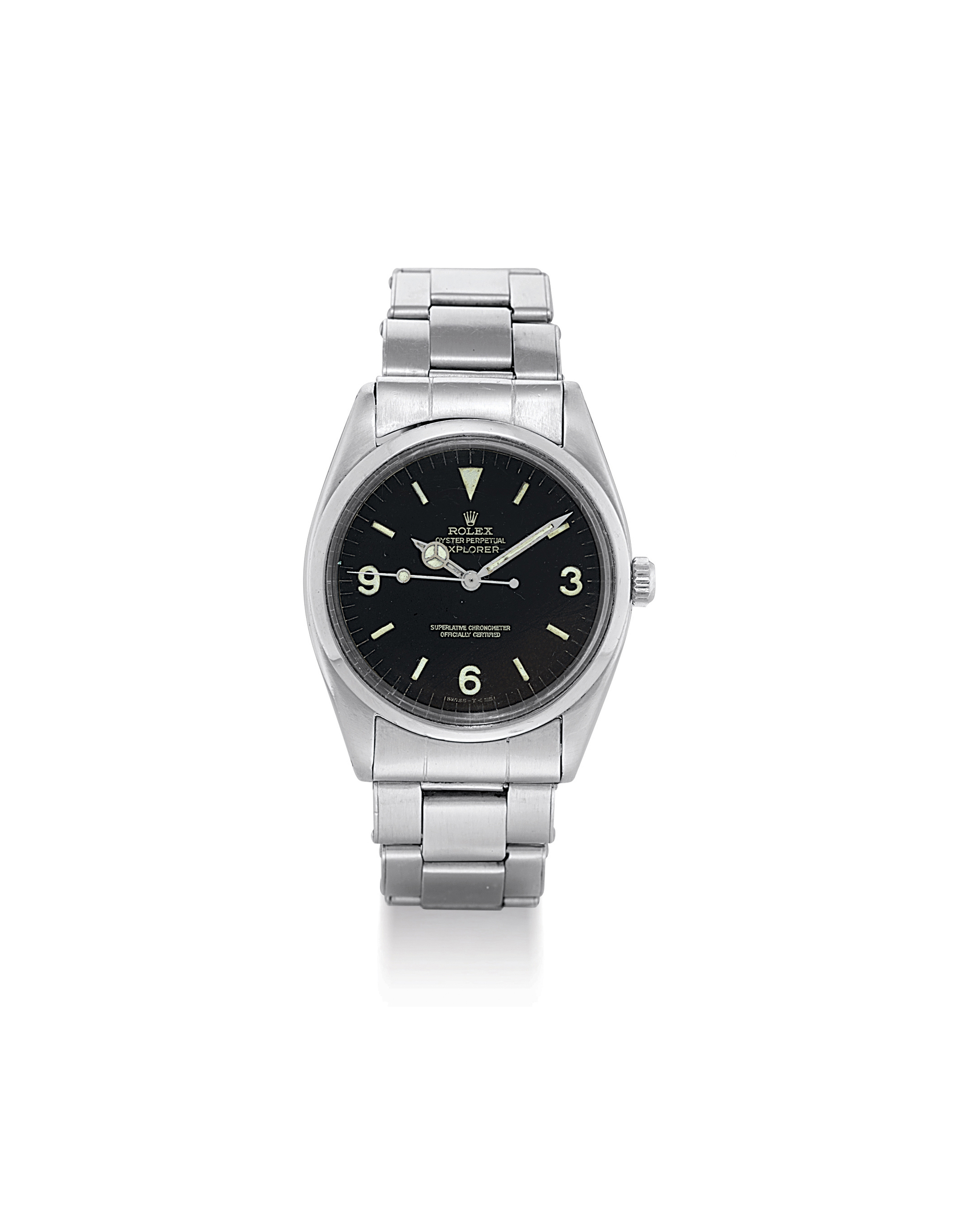 ROLEX. A STAINLESS STEEL AUTOMATIC WRISTWATCH WITH BRACELET