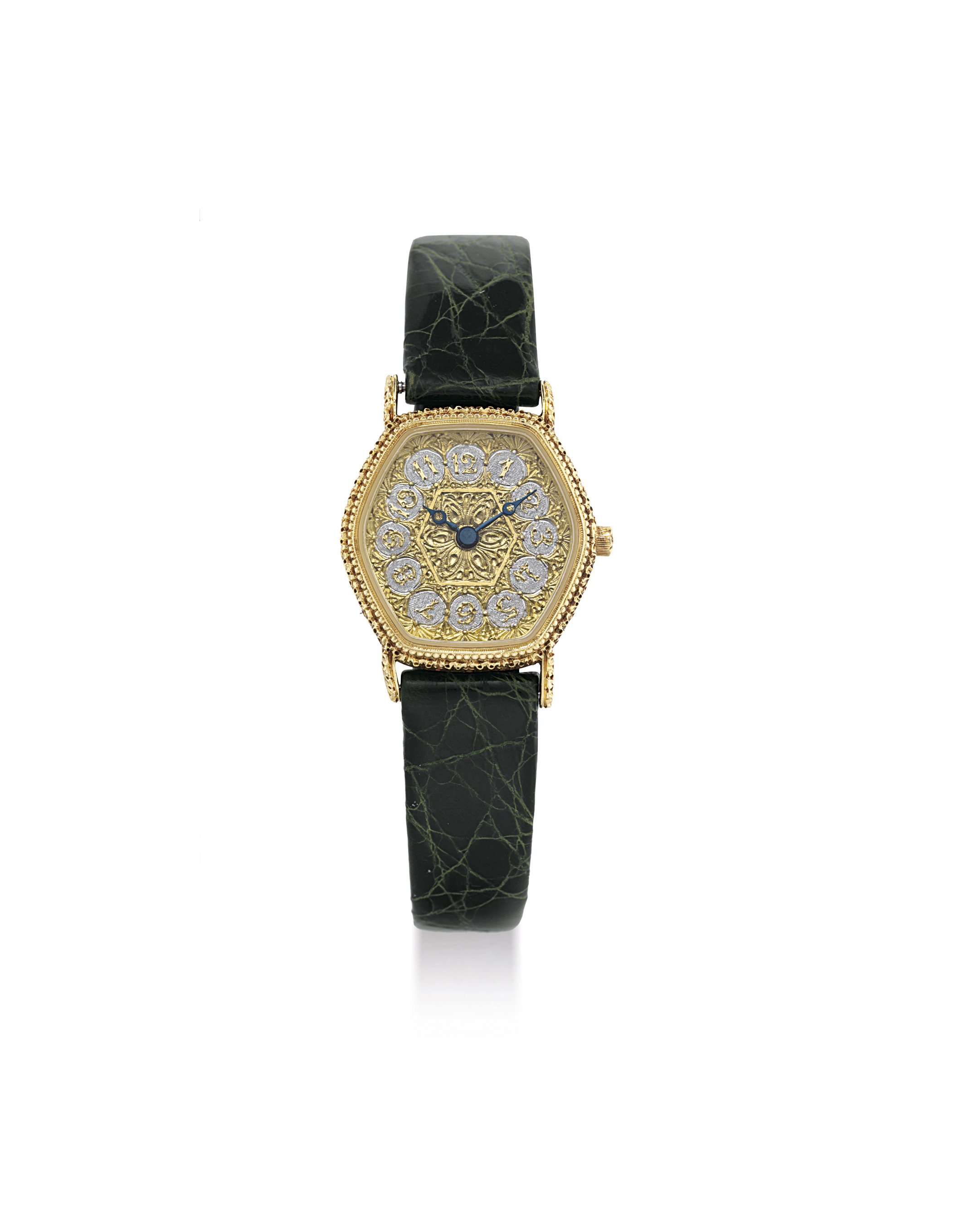 GIANMARIA BUCCELLATI. A LADY'S 18K GOLD HEXAGONAL WRISTWATCH
