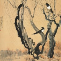 Magpies on Branches