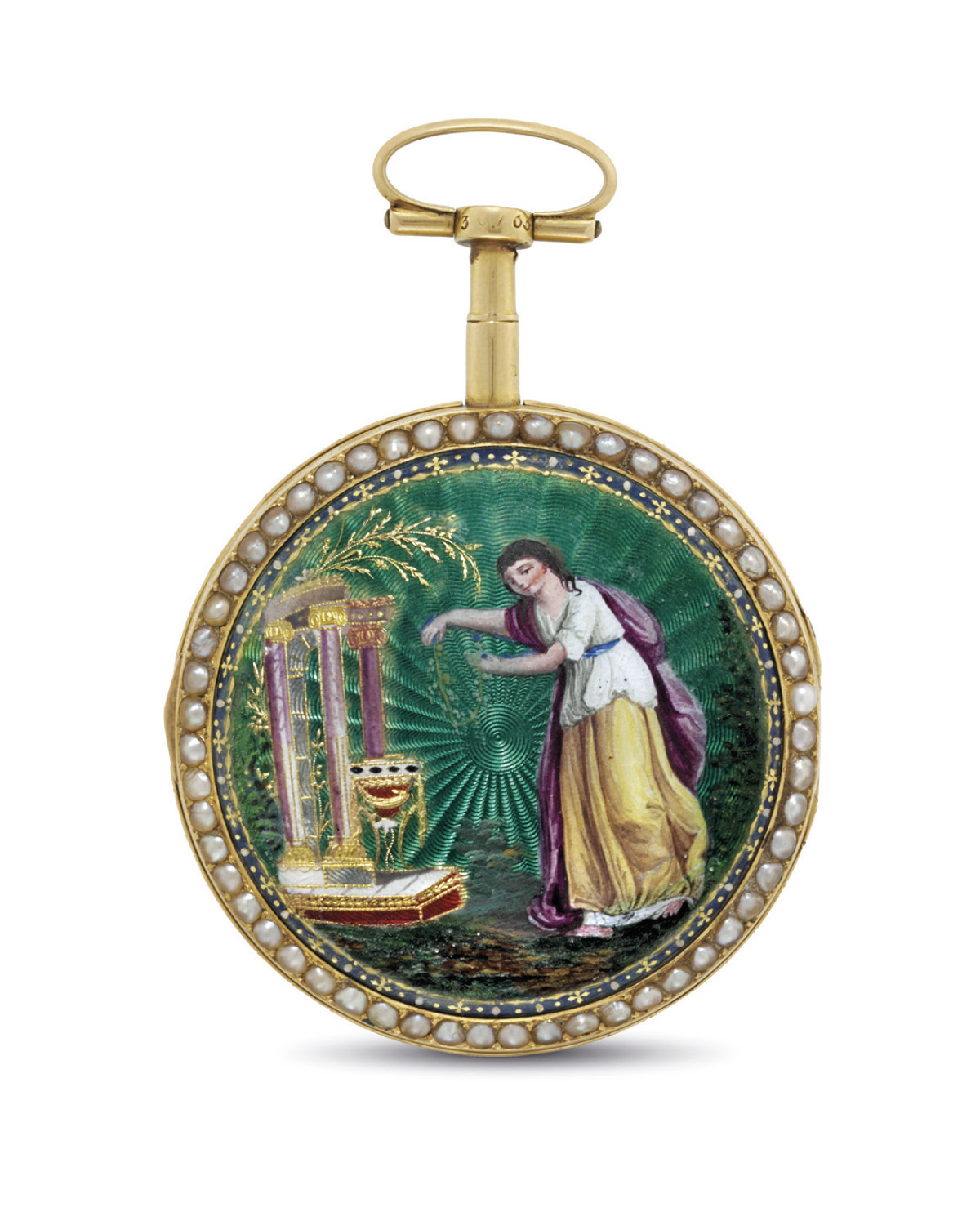 MORICAND. A GOLD, ENAMEL AND P