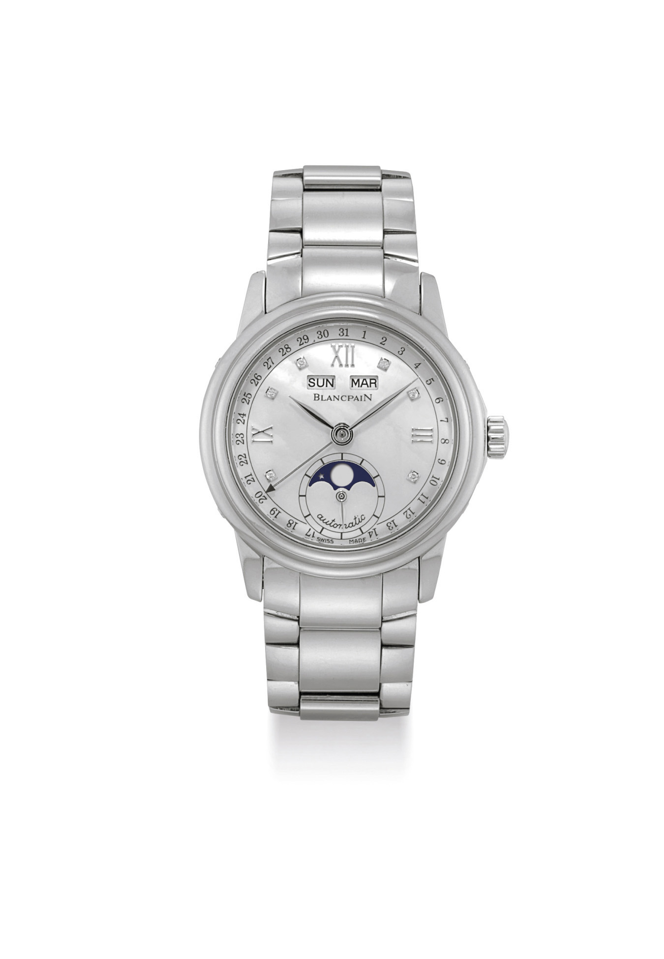 BLANCPAIN. A LADY'S STAINLESS