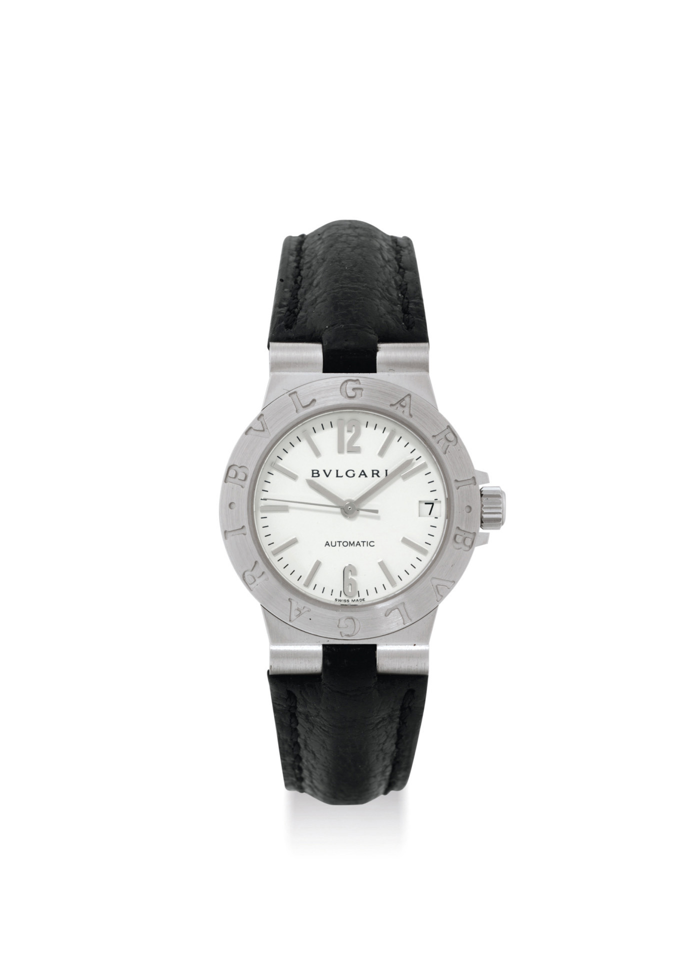 BULGARI. A LADY'S 18K WHITE GO