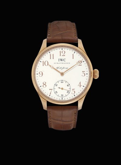 IWC. A FINE AND LARGE 18K PINK
