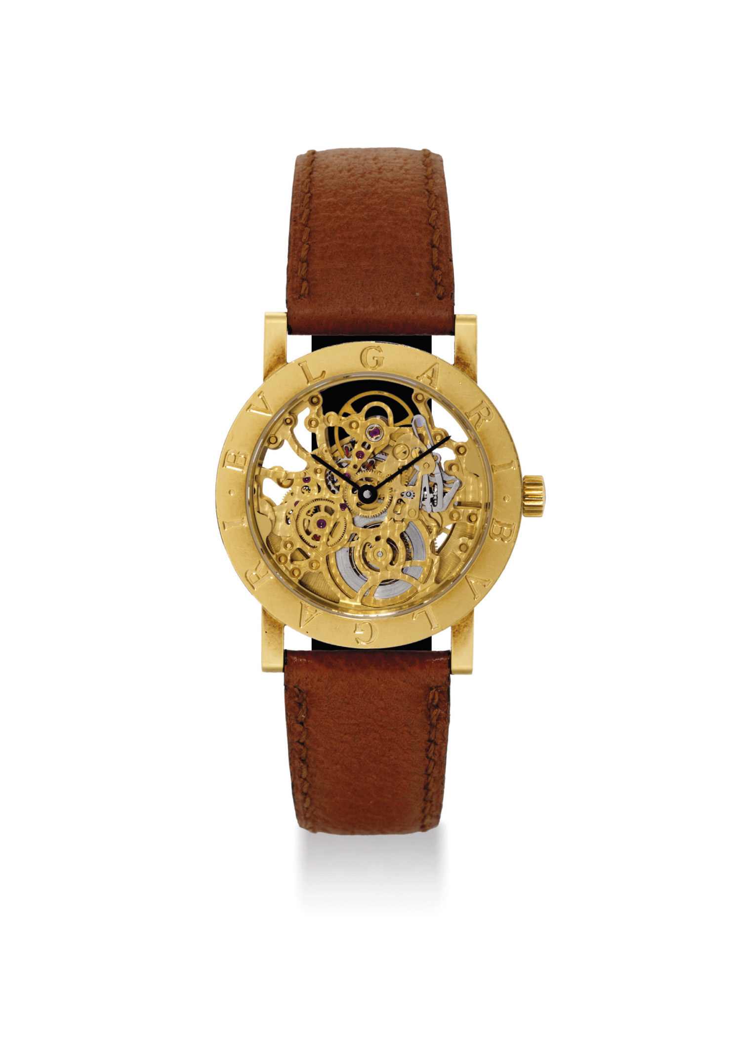 BULGARI. AN 18K GOLD SKELETONI