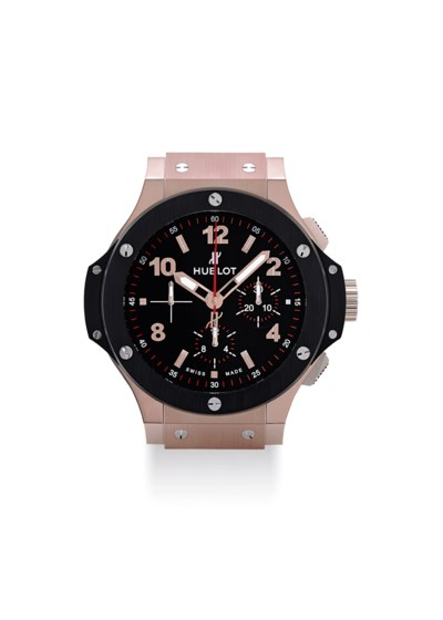 HUBLOT. A LARGE STAINLESS STEE