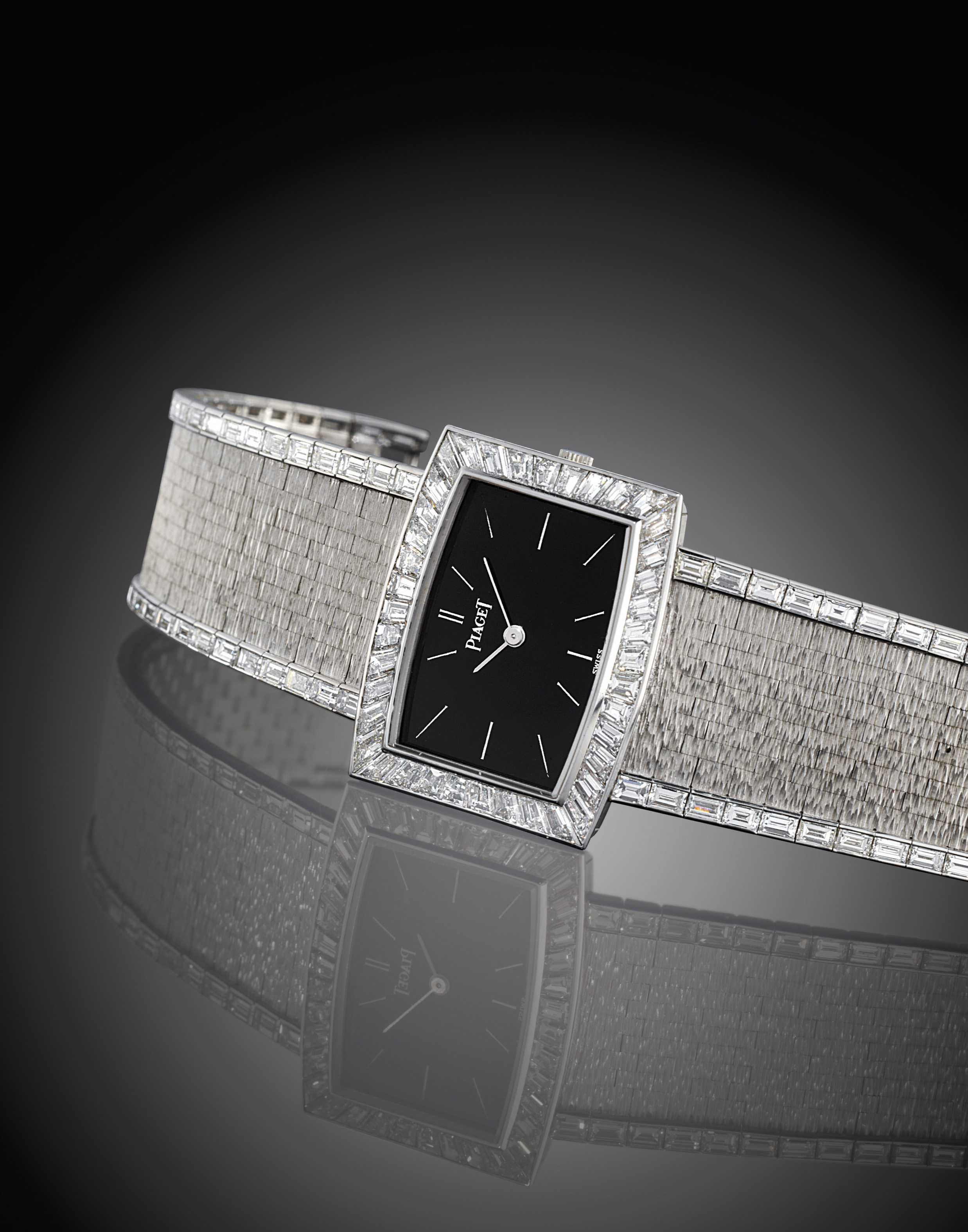PIAGET. A FINE AND RARE 18K WH