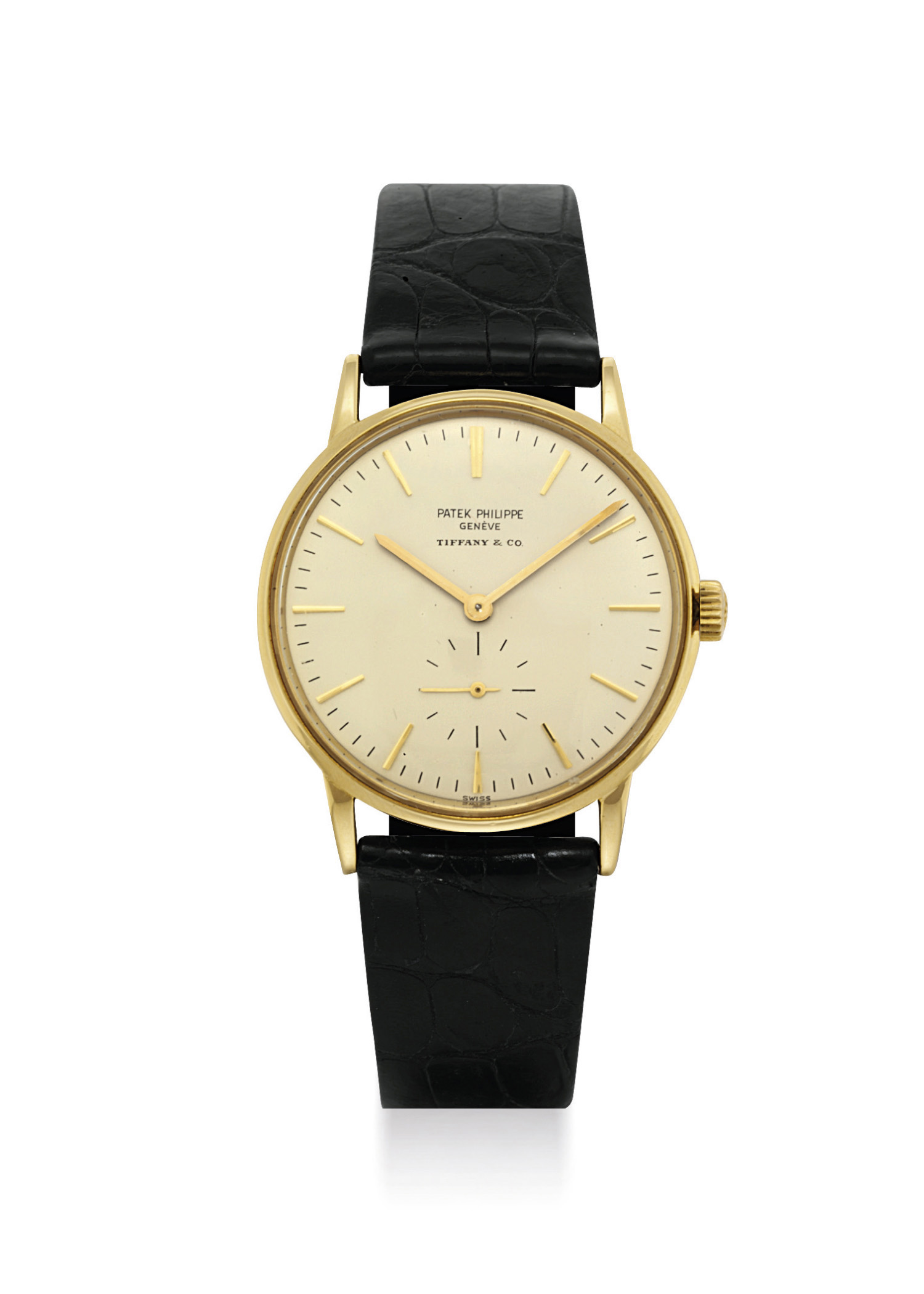 Patek philippe an 18k gold automatic wristwatch retailed by tiffany co signed patek for Patek philippe geneve