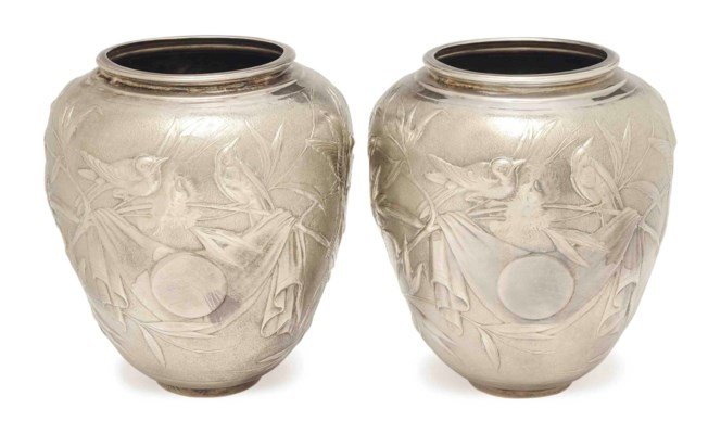 A PAIR OF CONTINENTAL SILVER B