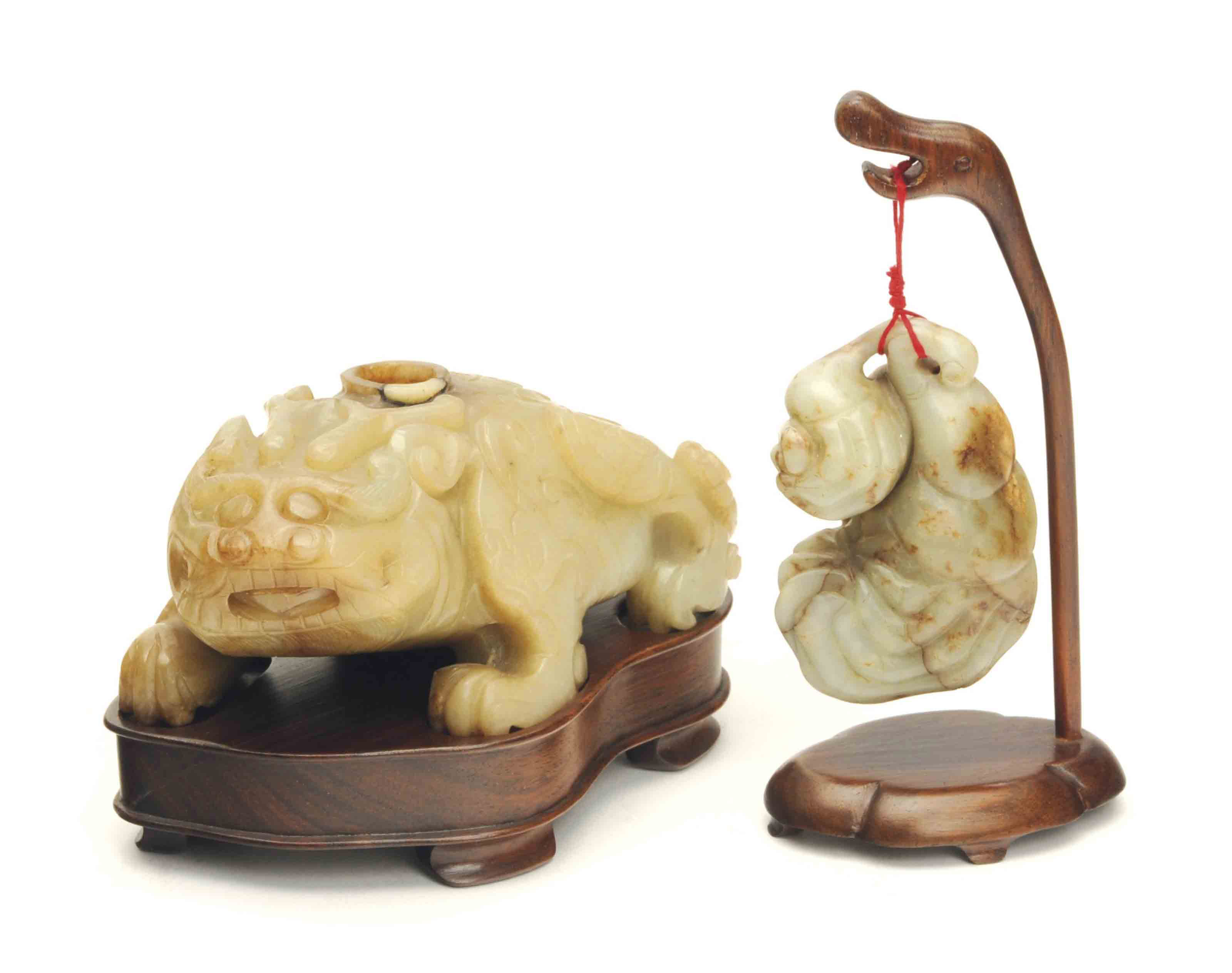 TWO CHINESE JADE CARVINGS,