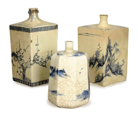 TWO SQUARE JAPANESE PORCELAIN