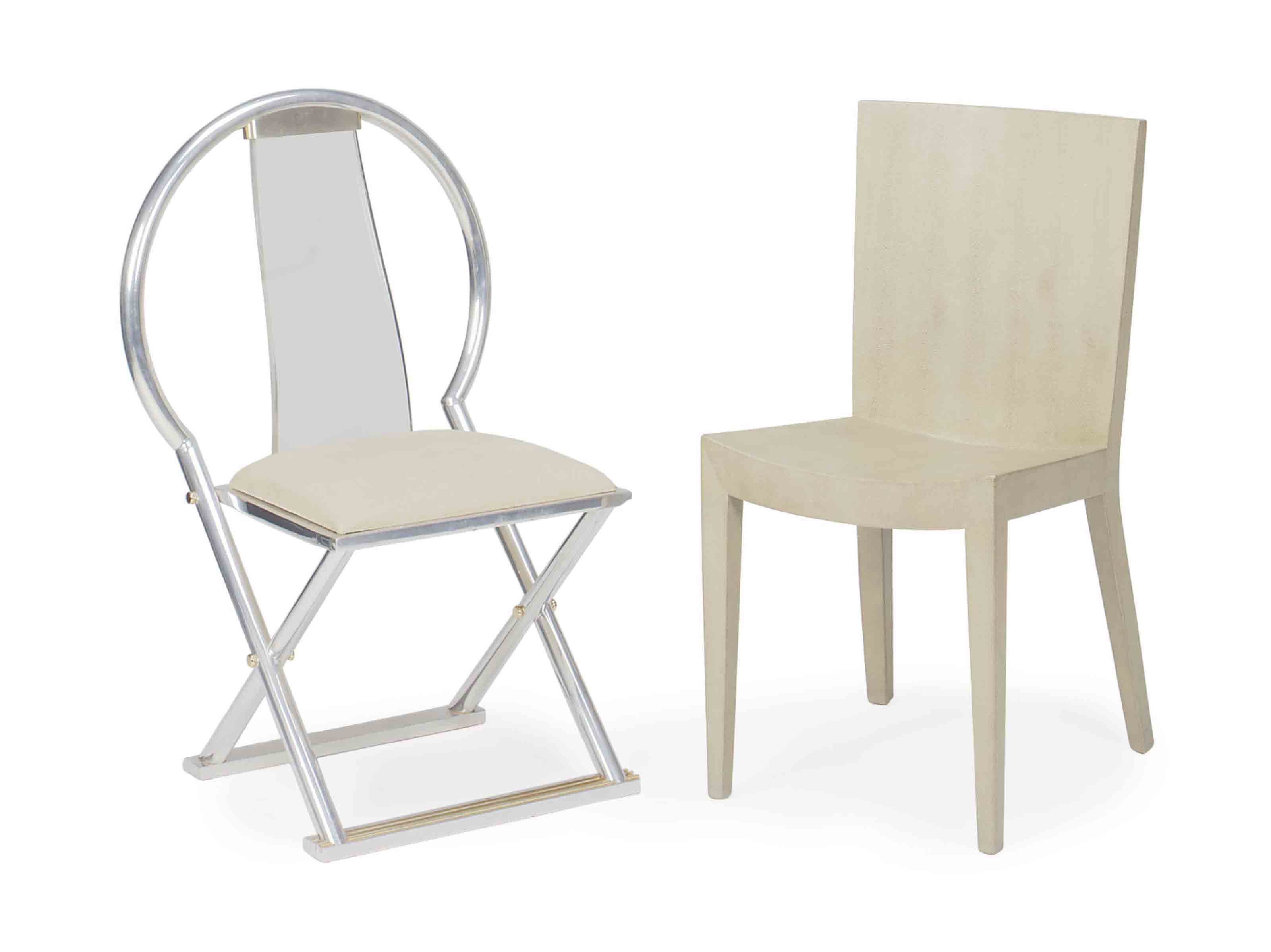 A GROUP OF TWO CHAIRS,