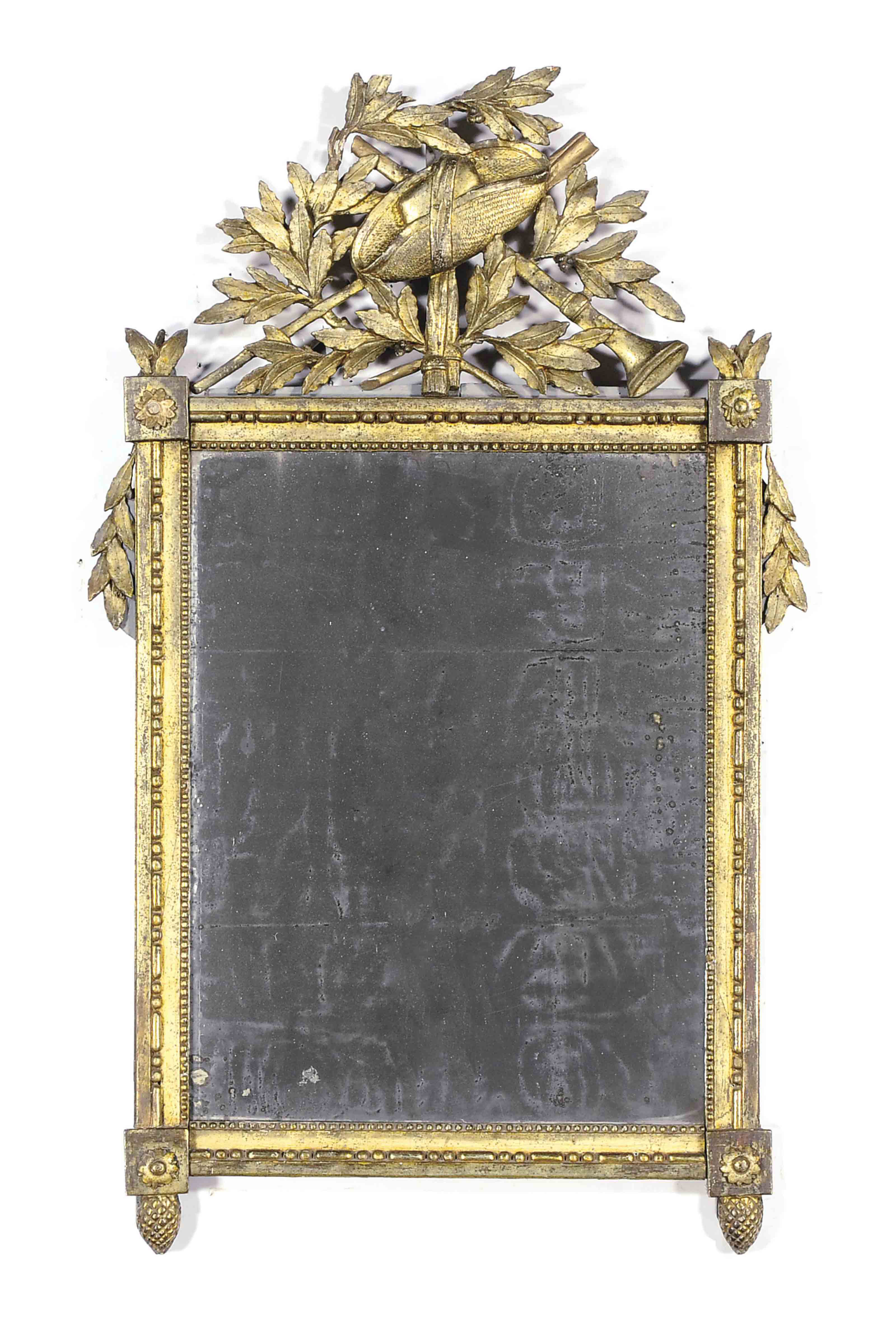 A FRENCH FOLIATE-CARVED GREY-P