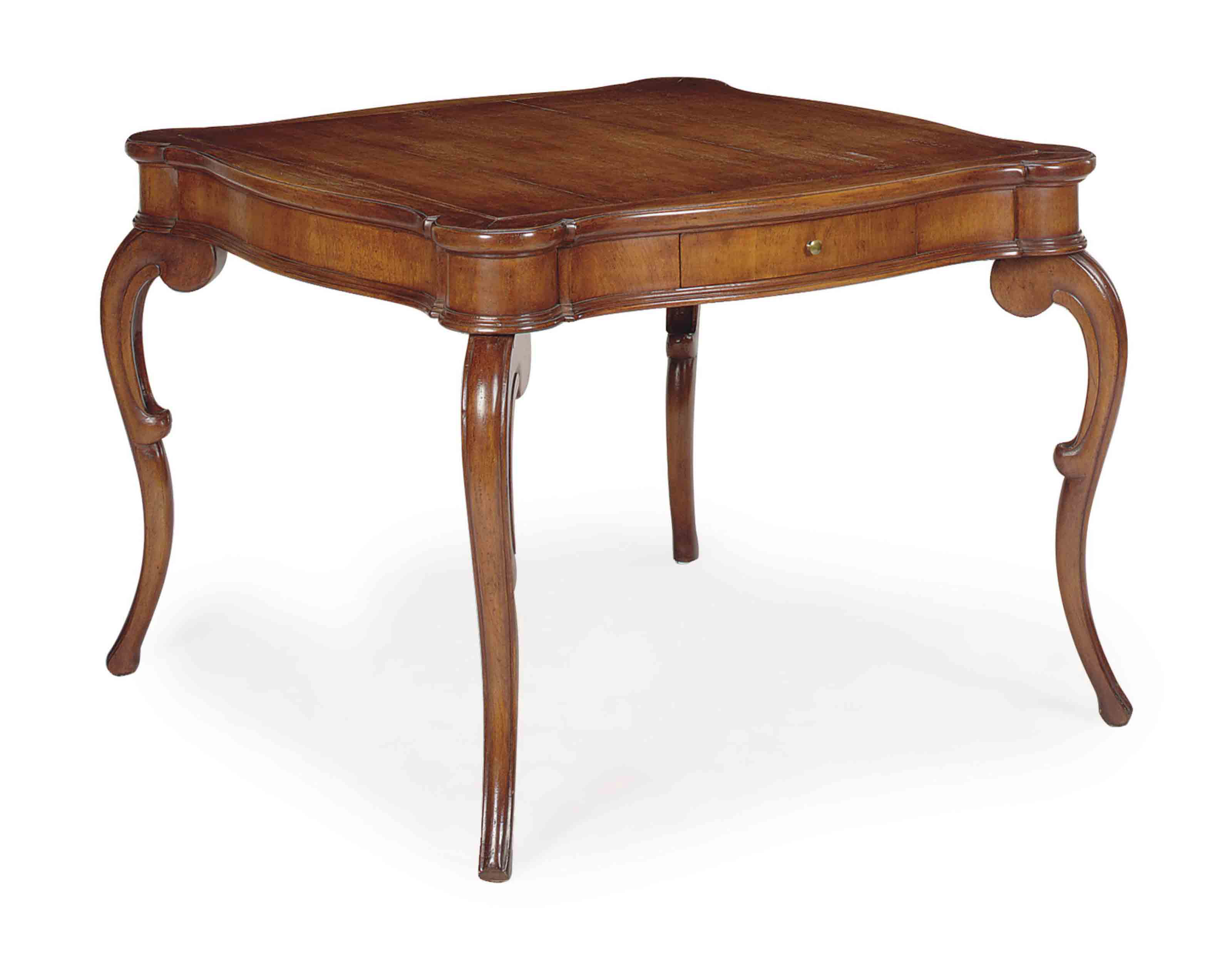 AN ITALIAN CARVED FRUITWOOD SQ