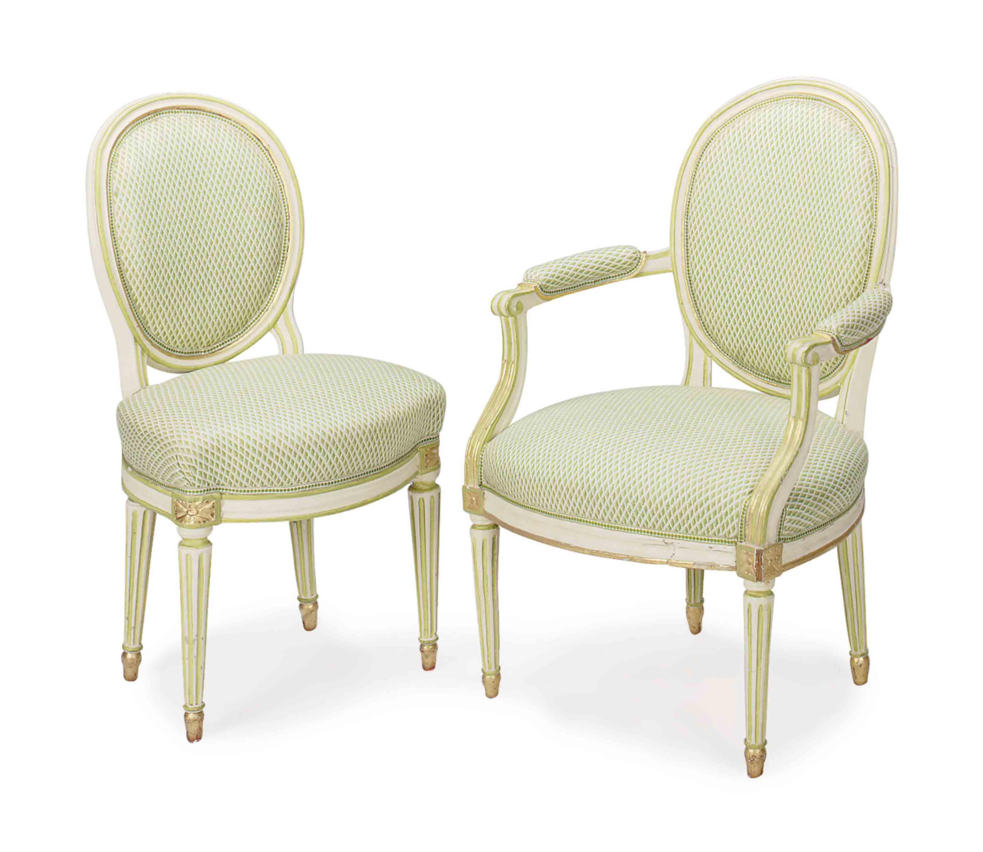 TWO PAIRS OF LOUIS XVI PARCEL-