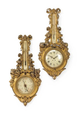 A FRENCH CLOCK AND MATCHING BA