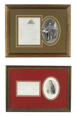 A GROUP OF FRAMED NAPOLEONIC P