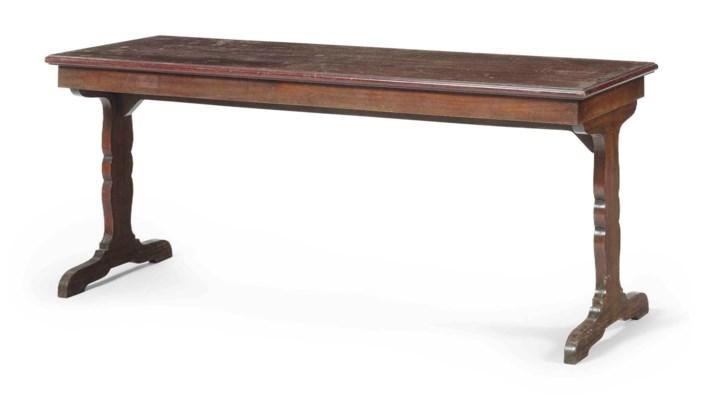 A BRAZILIAN MAHOGANY LOW TABLE